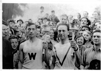 Olympic torch bearer in Westerham 1948