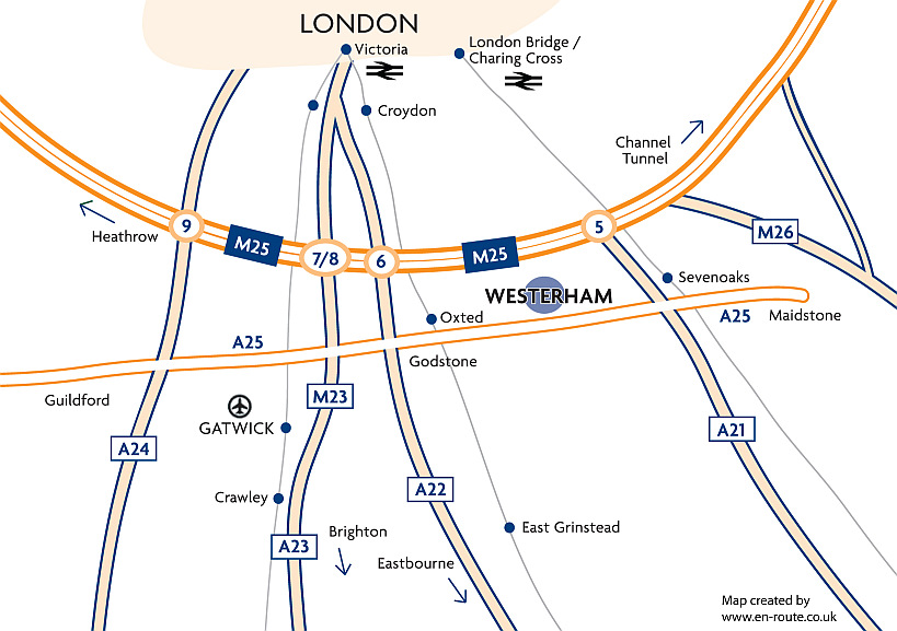 Westerham Map