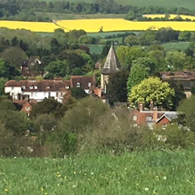 Westerham from the south